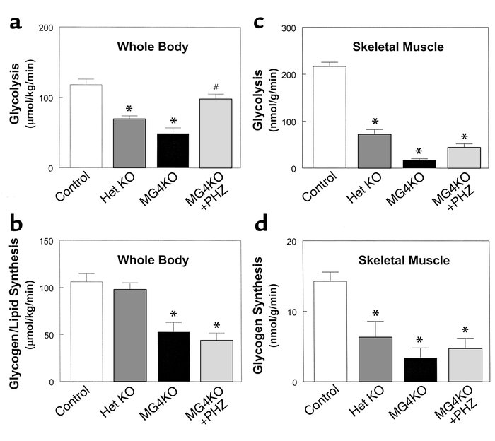 Insulin-stimulated glucose metabolic flux in whole body and skeletal mus...