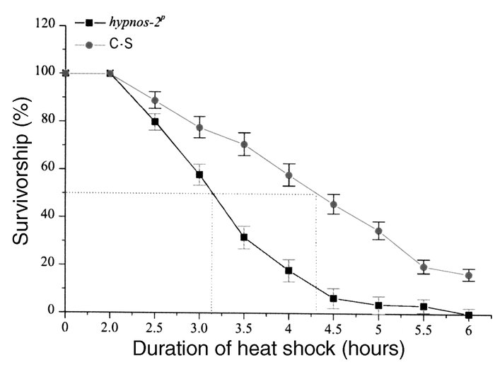 Effect of heat shock on lethality. Heat shock at 37°C has profound effec...