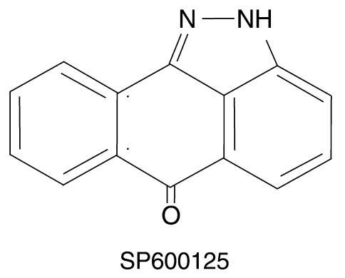 Structure of SP600125, a selective JNK inhibitor.