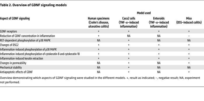 Overview of GDNF signaling models