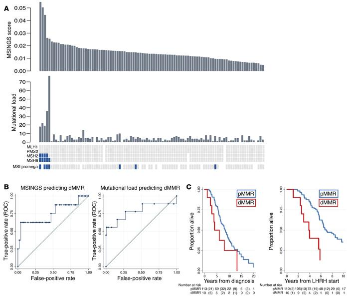 Comparative orthogonal analyses of dMMR in mCRPC. (A) Methods for detect...