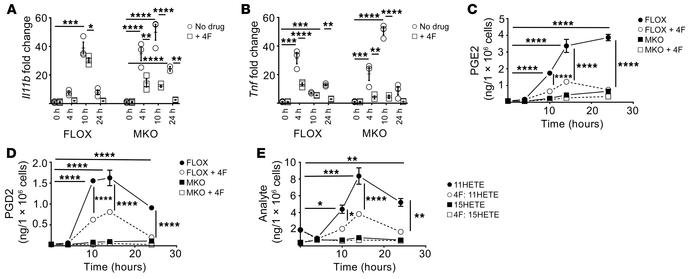4F treatment improves the inflammatory mediator profile of mouse macroph...
