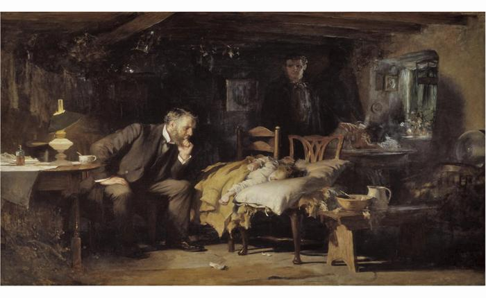 The                         Doctor. Luke Fildes, The Doctor. 1891,     ...