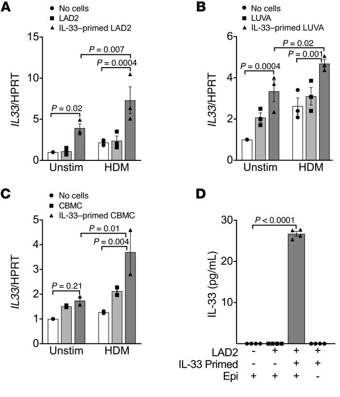 Mast cells regulate the epithelial expression of IL33 in a feed-forward ...