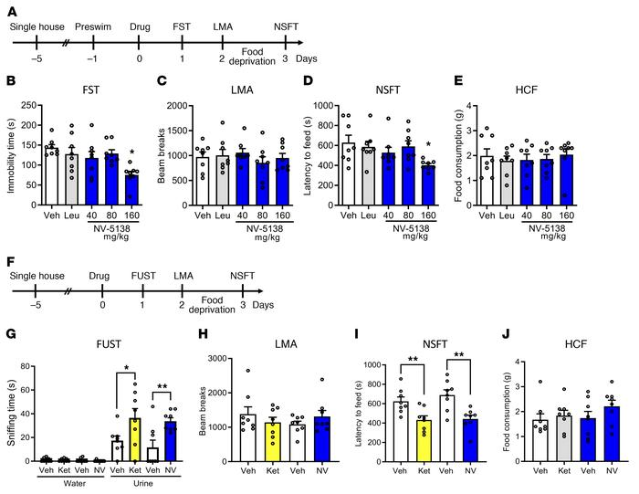 NV-5138 shows ketamine-like antidepressant actions in rodent models of d...