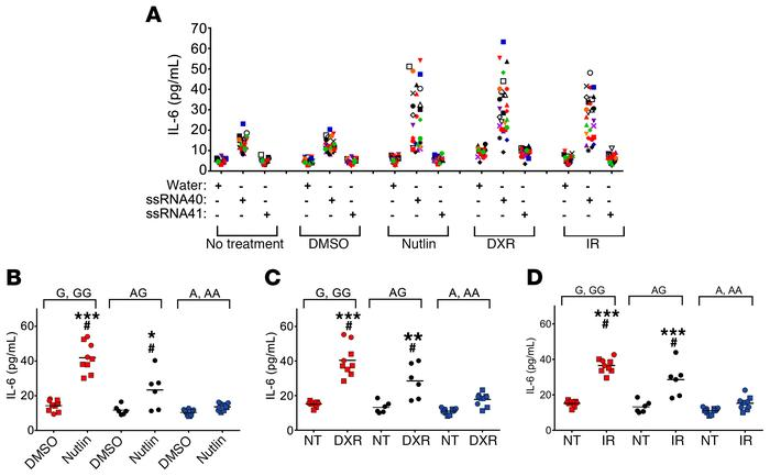Activation of p53 by chemotherapeutic drugs amplifies the TLR8-mediated ...