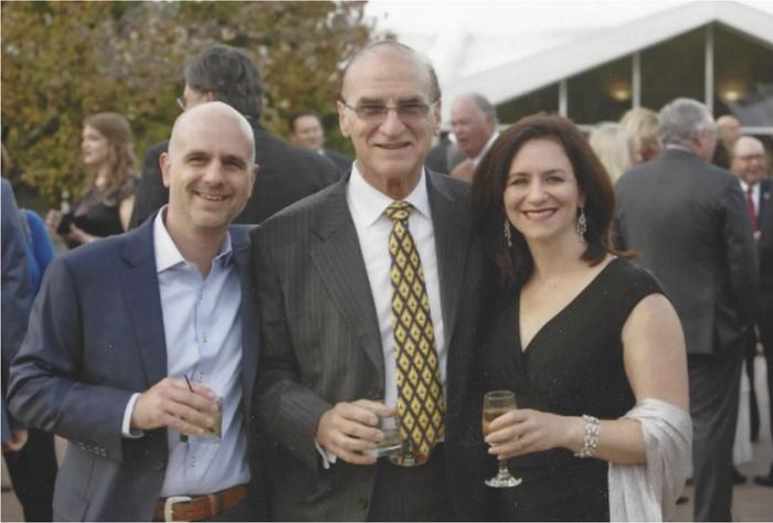 Ron Kahn with son Jeffrey and daughter Stacy.
