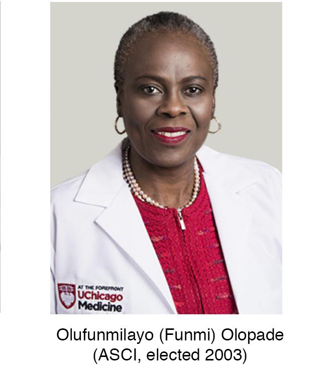 The first African female ASCI inductee, Olufunmilayo Olopade, elected to...