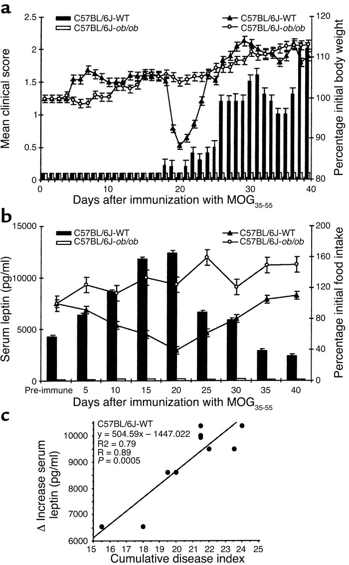 Serum leptin increase precedes the acute onset of chronic-progressive EA...