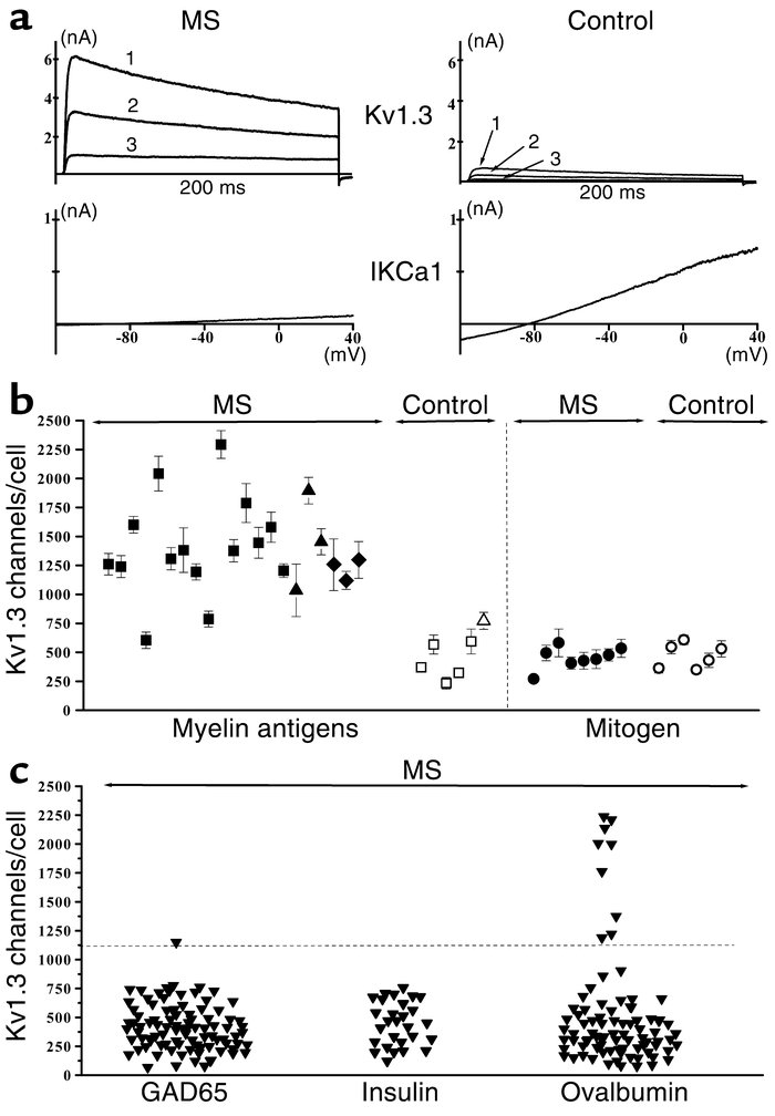 Myelin antigen–activated T cells from MS patients express the distinctiv...