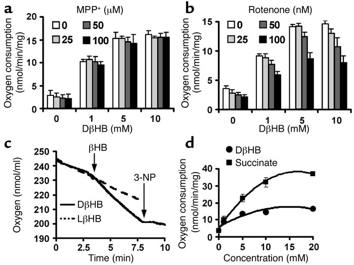 DβHB increases oxygen consumption in purified brain mitochondria. Mitoch...