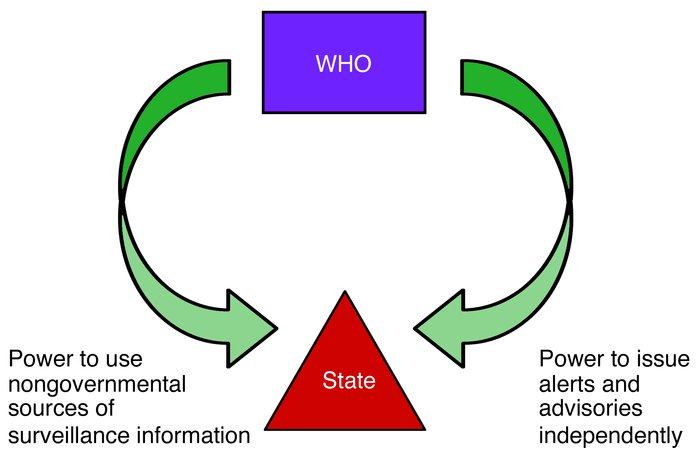 "The global health governance ""pincer"" captures how the WHO's power to us..."