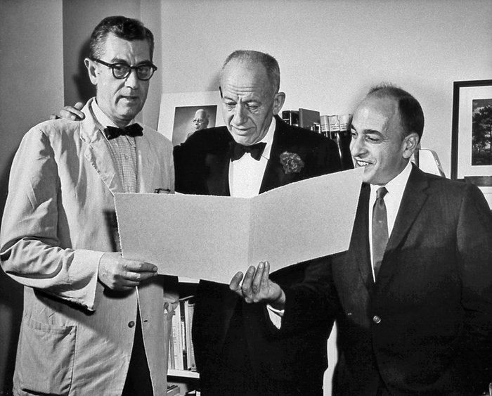 James A. Shannon, Robert Berliner, and Homer W. Smith (center) prior to ...