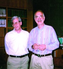 With Philip W.Majerus, 1995.