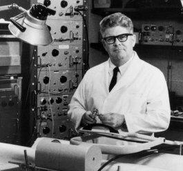 Dr. Jack Eckstein in the laboratory at the University of Iowa.
