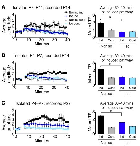 Social isolation disrupts LTP in the developing rat barrel cortex. LTP w...