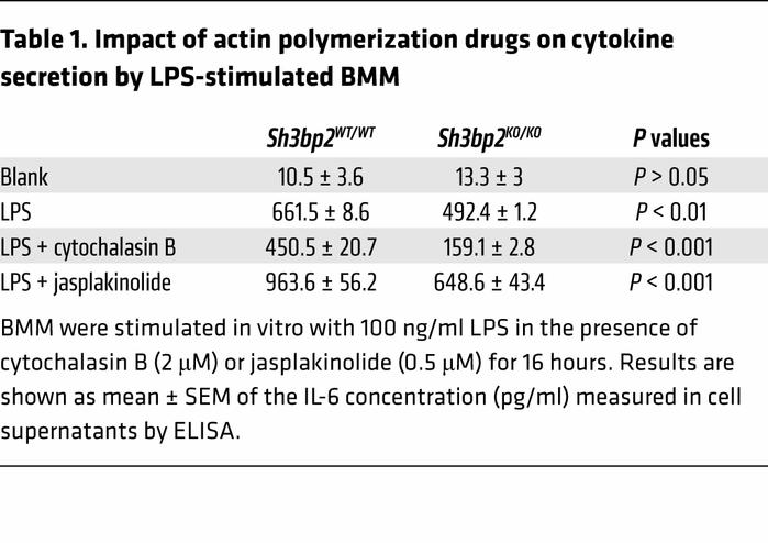 Impact of actin polymerization drugs on cytokine secretion by LPS-stimul...