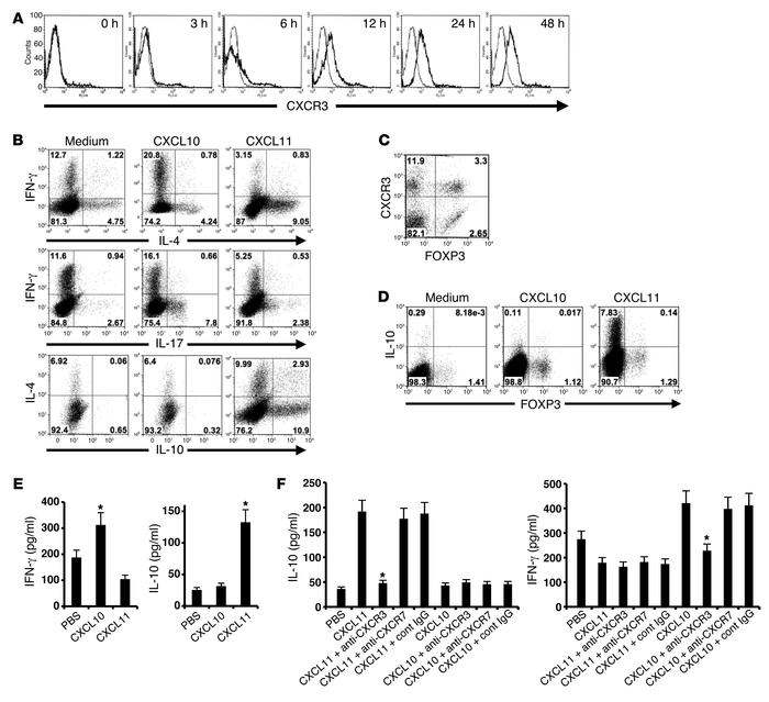 Distinct CXCR3 ligands differentially polarize CD4+ T cells in a CXCR3-d...