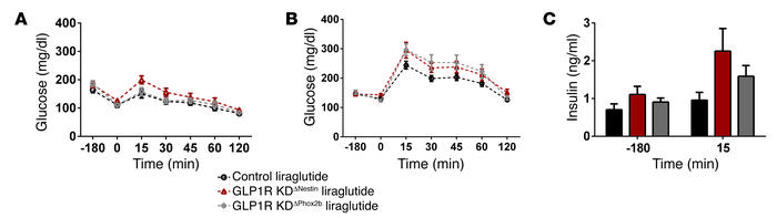 Liraglutide lowers glucose tolerance despite KD of central GLP1 receptor...