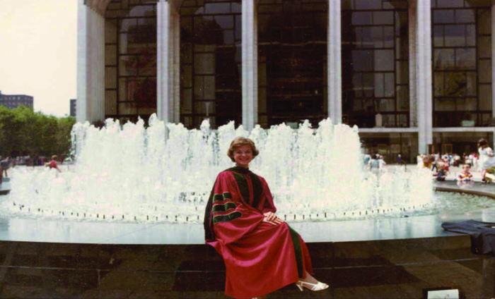 Elizabeth G. Nabel at graduation from Cornell Medical College, 1981. Pho...
