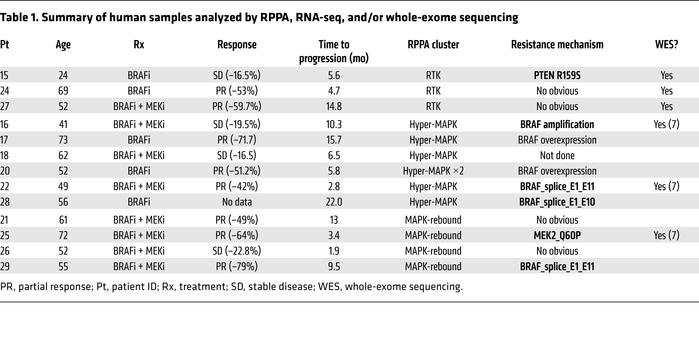 Summary of human samples analyzed by RPPA, RNA-seq, and/or whole-exome s...