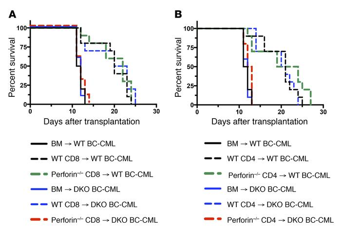 CD4 and CD8-mediated GVL require intact T cell perforin or leukemia FADD...