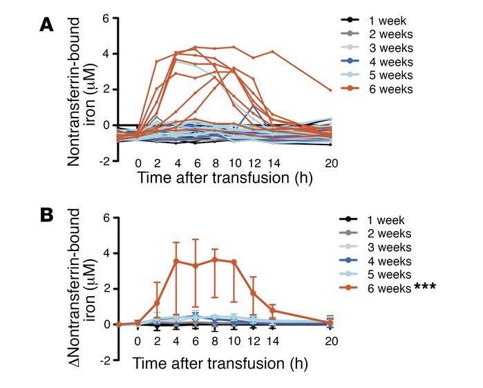 Nontransferrin-bound iron is increased predominantly after 6 weeks of re...