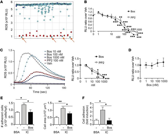 A small-molecule screen identifies bosutinib as the lead inhibitor of Fc...