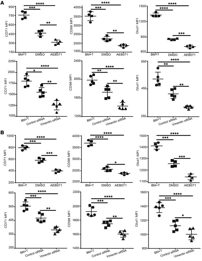 Vimentin disruption augments Treg-mediated suppression of Tcon metabolic...