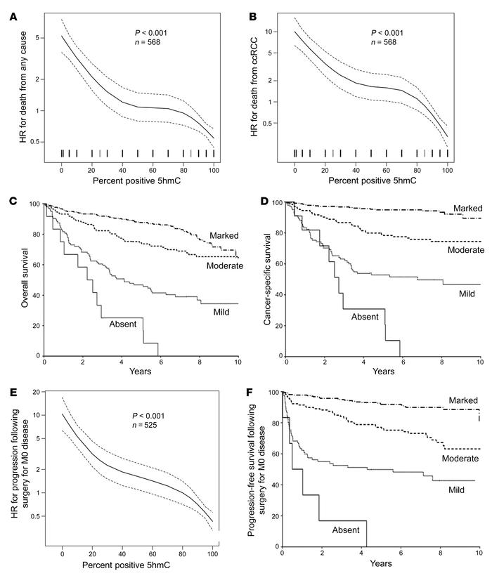 Loss of 5hmC is an independent prognostic factor in ccRCC and predicts s...