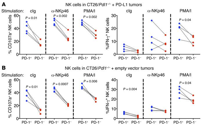 In CT26 tumors, PD-1+ NK cells are more responsive than PD-1–negative NK...